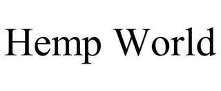 HEMP WORLD trademark