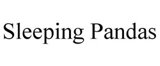 SLEEPING PANDAS trademark