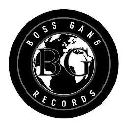 BG BOSS GANG RECORDS trademark