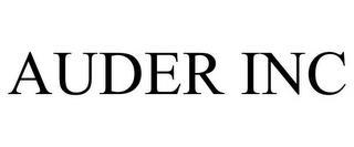 AUDER INC trademark