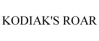 KODIAK'S ROAR trademark