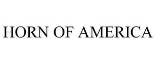 HORN OF AMERICA trademark