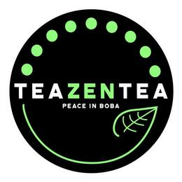 TEAZENTEA PEACE IN BOBA trademark