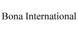 BONA INTERNATIONAL trademark