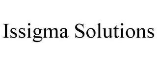 ISSIGMA SOLUTIONS trademark