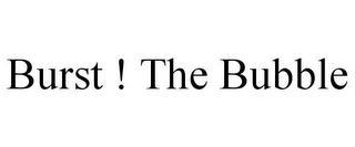 BURST ! THE BUBBLE trademark