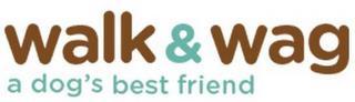 WALK & WAG A DOG'S BEST FRIEND trademark