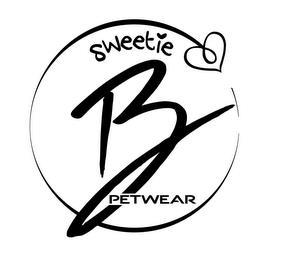 SWEETIE B PETWEAR trademark