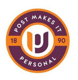 PU POST MAKES IT PERSONAL 1890 trademark