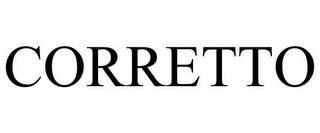 CORRETTO trademark