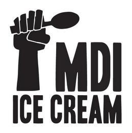 MDI ICE CREAM trademark