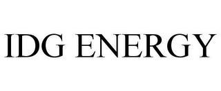 IDG ENERGY trademark