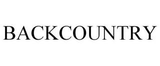 BACKCOUNTRY trademark
