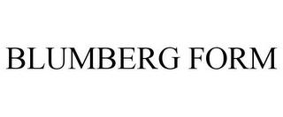 BLUMBERG FORM trademark