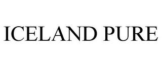 ICELAND PURE trademark
