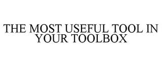 THE MOST USEFUL TOOL IN YOUR TOOLBOX trademark