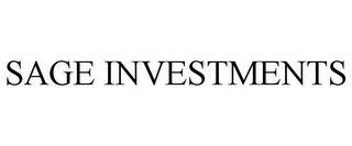 SAGE INVESTMENTS trademark