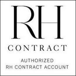RH CONTRACT AUTHORIZED RH CONTRACT ACCOUNT trademark
