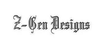 Z-GEN DESIGNS trademark