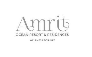 AMRIT OCEAN RESORT AND RESIDENCES WELLNESS FOR LIFE trademark