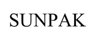 SUNPAK trademark