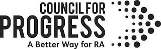 COUNCIL FOR PROGRESS A BETTER WAY FOR RA trademark