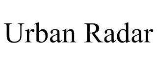 URBAN RADAR trademark