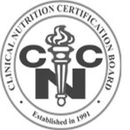 CLINICAL NUTRITION CERTIFICATION BOARD · ESTABLISHED IN 1991 · C N trademark