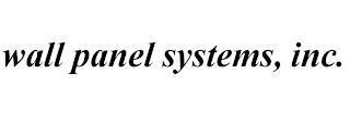 WALL PANELS SYSTEMS, INC. trademark