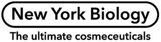 NEW YORK BIOLOGY THE ULTIMATE COSMECEUTICALS trademark