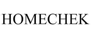 HOMECHEK trademark