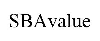 SBAVALUE trademark