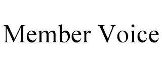 MEMBER VOICE trademark