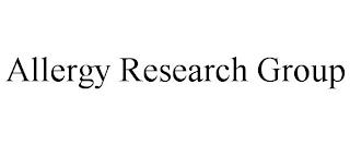 ALLERGY RESEARCH GROUP trademark
