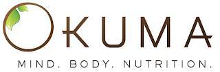 OKUMA MIND. BODY. NUTRITION trademark