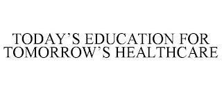 TODAY'S EDUCATION FOR TOMORROW'S HEALTHCARE trademark