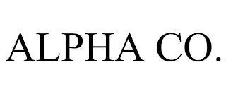 ALPHA CO. trademark