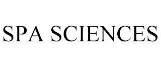 SPA SCIENCES trademark