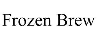 FROZEN BREW trademark