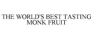 THE WORLD'S BEST TASTING MONK FRUIT trademark