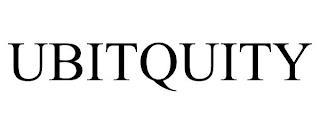UBITQUITY trademark