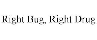 RIGHT BUG, RIGHT DRUG trademark