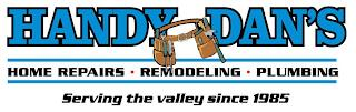 HANDY DAN'S HOME REPAIRS · REMODELING · PLUMBING SERVING THE VALLEY SINCE 1985 trademark