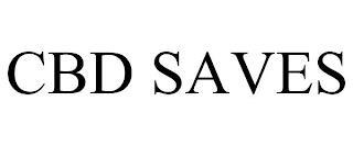 CBD SAVES trademark