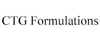 CTG FORMULATIONS trademark