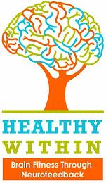HEALTHY WITHIN BRAIN FITNESS THROUGH NEUROFEEDBACK trademark