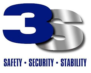 3 S SAFETY SECURITY STABILITY trademark