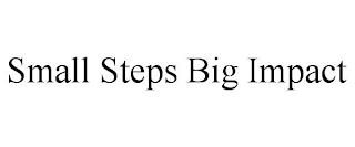 SMALL STEPS BIG IMPACT trademark