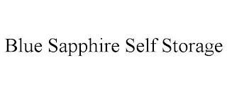 BLUE SAPPHIRE SELF STORAGE trademark