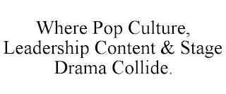 WHERE POP CULTURE, LEADERSHIP CONTENT & STAGE DRAMA COLLIDE. trademark